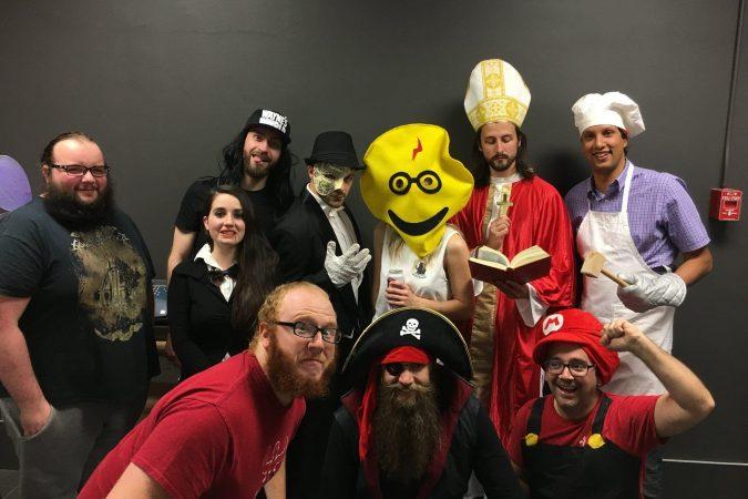 Nos p'tits « tlmiens » sont pas mal beaux avec leurs costumes!