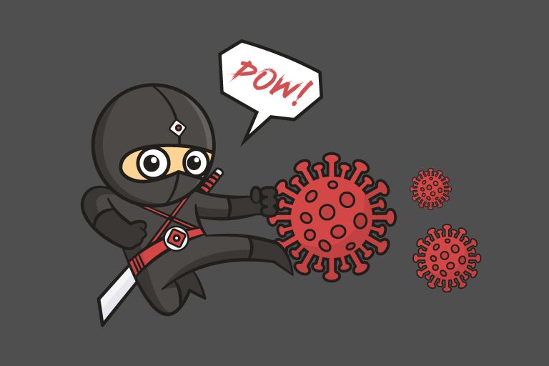 Les ninjas contre la COVID-19
